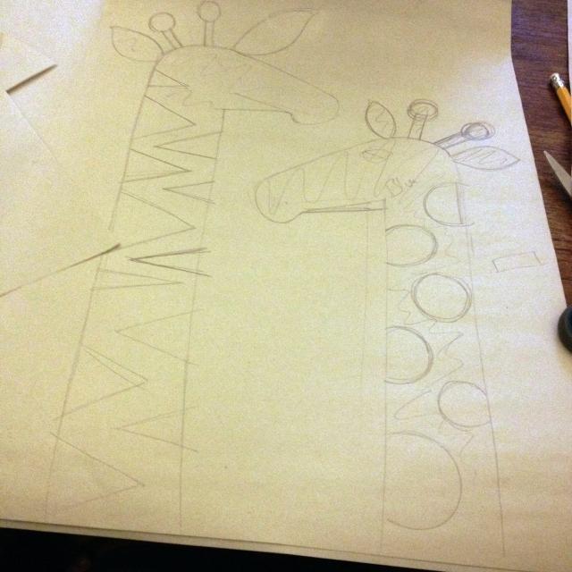 giraffe sketch - jainaminton
