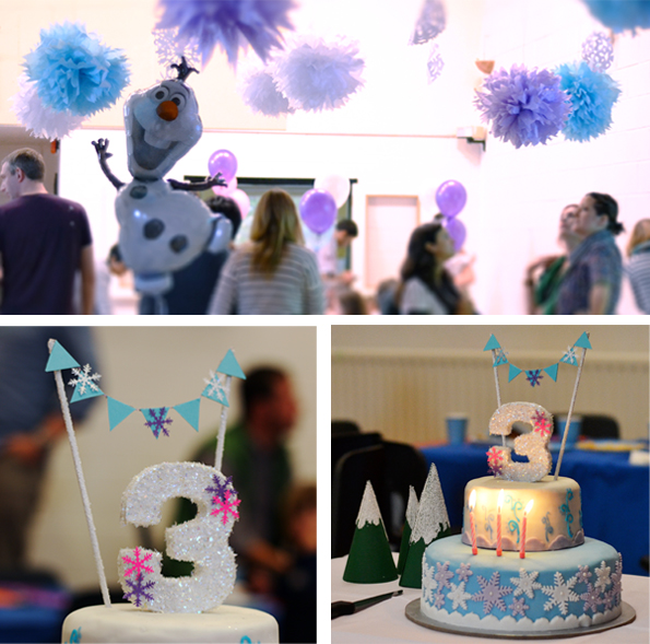 Paper pompoms and Cake Topper