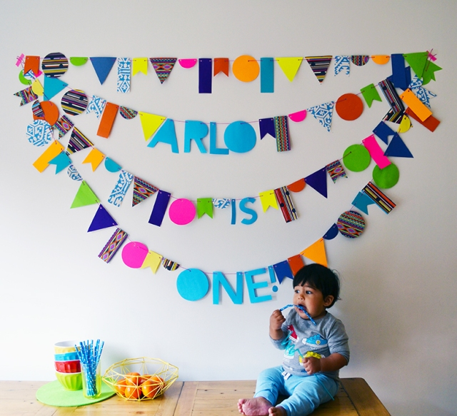 DIY Celebration Garland with Arlo